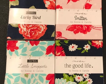 Bonnie And Camille Little Snippets - Smitten- The Good Life - Early Bird Charm Packs