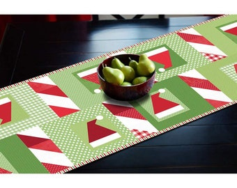 Hats Off to Santa Table Runner Kit - KT0099 - By Sandra Workman for Riley Blake