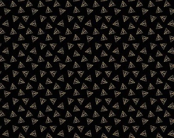 Deathly Hallow With Metalics - Camelot- Wizarding World- Harry Potter- J.K. Rowling's Collection- 23800109L - End of Bolt  2/3 yard
