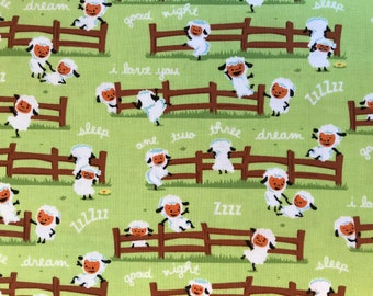 Riley Blake - Harmony Sheep Dream Green - C6691
