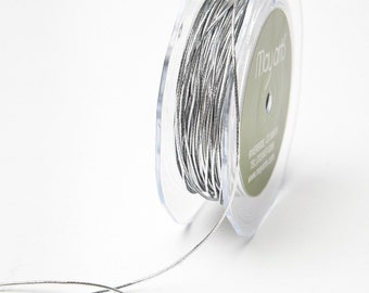 1 Millimeter Elastic Cord - 50 Yards Silver