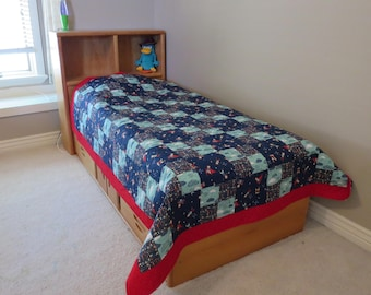 Homemade Twin Quilt - Greatest Adventure - One Week Sale