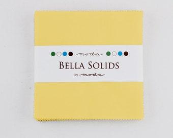 Bella Solids Charm Pack 30s Yellow - 9900PP 23S Moda Precuts
