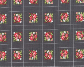 Little Snippets - Bonnie and Camille Fabric - 5518716 -  Floral Forget Me Not Grey