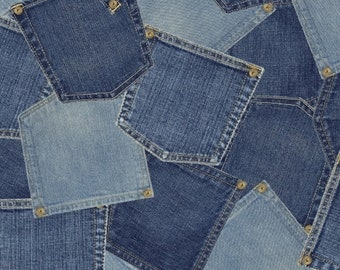 Windham Fabrics -limited Edition Jeans pockets Fabric - 40705