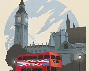 Riley Blake - Destinations Poster Panel London P10027