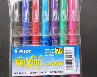 Frixion Clicker Gel Pen 7ct Assorted