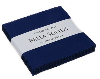 Moda Charm Pack - Bella Solid Royal Charm Pack - 5 Inch Squares 9900PP19