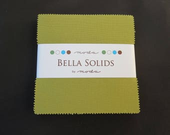 Fig Tree Bella Solid Olive Charm Pack - 9900PP 69