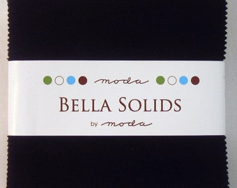 Bella Solids Charm Pack -Black - 9900PP-99 - Moda Black Charm Pack