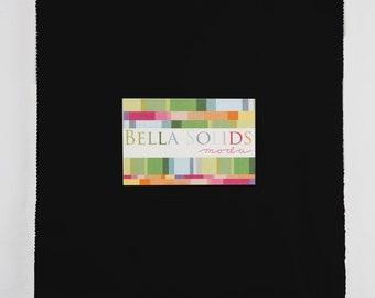 Bella Solids Black Junior Layer Cake - Moda 9900JLC-99 - 9900JLC99