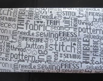 Studio E My Happy Place - Black Embroidered Words # 3883S-99