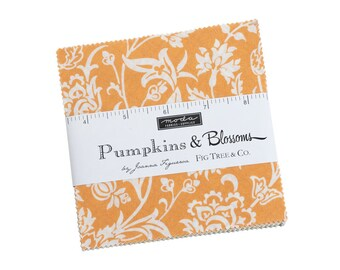 Fig Tree Fabric - Pumpkins And Blossoms Charm Pack