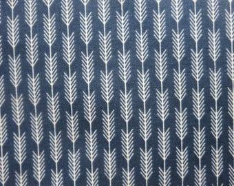 Riley Blake High Adventure Arrow Stripe Blue Fabric  C5555 - One Yard Remaining!