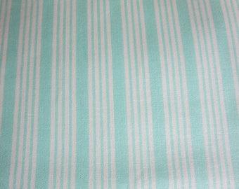 Bonnie Camille The Good Life Fabric -Bonnie Camille Floral Stripe Aqua 55157 12 -  3 Day Special