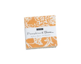 Fig Tree Fabric - Pumpkins And Blossoms  Mini Charm Pack