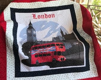 Homemade Lap / Throw Quilt - British Quilt / England Quilt/LondonQuilt