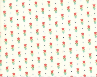 Early Bird - Bonnie Camille Fabric - 55197 17 / 5519717 - Early Bird Tulips