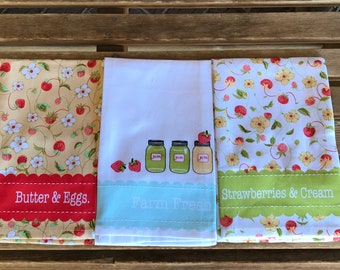 Moda - Chantilly Tea Towels Set of 3 961 172 Moda Home - Fig Tree