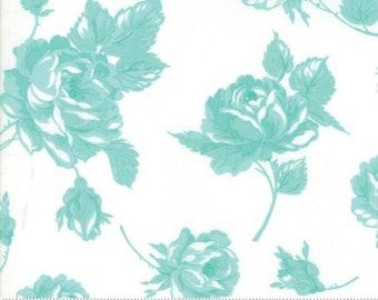 Bonnie Camille - Floral Rosy - Smitten Rosy Cream Aqua 55170 22 Moda