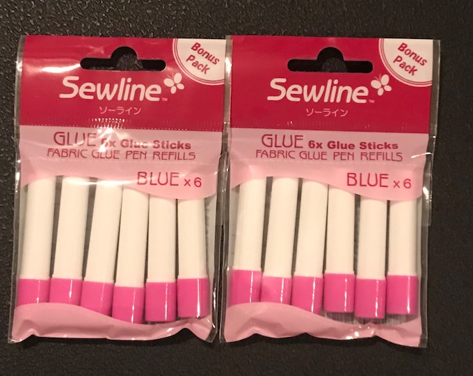 Featured listing image: In Stock - Double Pack - Sewline Blue Fabric Glue Pen Refill - Pen Sold Separately ( Link Below) - FAB50063- Glue Sticks - Gluestick