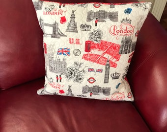 British Themed Pillow Throw Cover