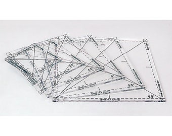 Complete Fussy Cut Rulers Set 2056 Quilt In A Day - Ships Priority Mail