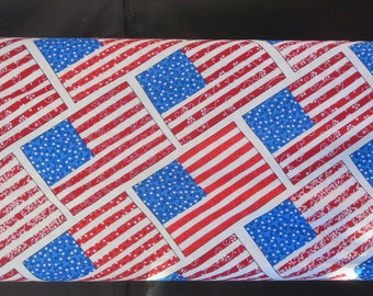 Henry Glass - Let Freedom Ring by First Blush Studio  9942-87 Diagonal Flag- Red/Blue