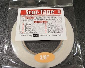 "Scor-Tape - Premium Double Sided Adhesive 3/8 """