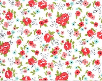 Sunday Stroll White Red 55222 21 Moda - Little Floral
