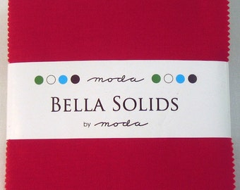 Bella Solids Red Charm Pack