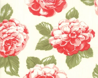 Early Bird - Bonnie Camille Fabric - 55190 17/ 5519017 - Early Bird Vintage Blooms Cream