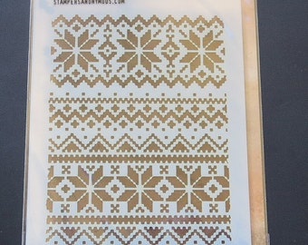 Tim Holtz - Layering Stencil - THS028 - Holiday Knit