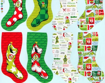 Grinch Stocking Panel - How The Grinch Stole Christmas