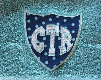 CTR Light Teal Towel - Applique