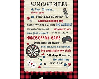 Windham - MAN CAVE PANEL 52410P-X - by Rosemarie Lavin - Approximate Panel Size: 24 x 42