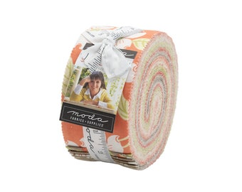 In Stock - Fig Tree Fabric - Strawberries &  Rhubarb Jelly Rollp