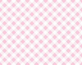 8.99 A Yard - Last Day Of Sale- Lori Holt For Riley Blake Sew 2 Cherry Gingham Pink - C5808