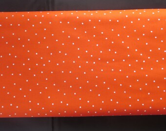 7.99 A Yard - Creative Rockstar Solo Red With White Dots C5813 - Riley Blake - (This is not a vibrant red It is More An Orange Red)