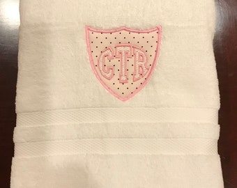 CTR Towel - Pink With Black Dots