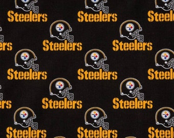 Pittsburgh Steelers  Cotton Fabric -  NFL Fabric 58 Inches wide