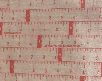 Little Snippets - Bonnie and Camille Fabric - 55181 13 -   Measure Twice Pink