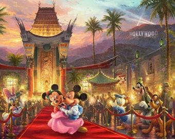 Disney Dreams In Hollywood Digital Panel 36in - Thomas Kinkade Print