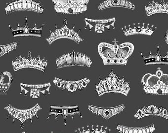 LONDON by Whistler Studios -  Windham Fabrics 52346-3 - Crowns