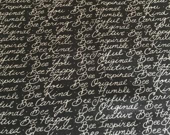 Moda - Deb Strain Be Joyful Black Fabric - 1987618