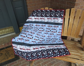 Homemade - Speedster  Quilt - Made With Hard To Find Fabrics! - Last Day Of Sale
