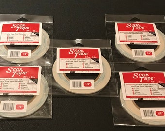 """Scor-Tape - Premium Double Sided Adhesive 1/8"""" - Five Pack Special"""