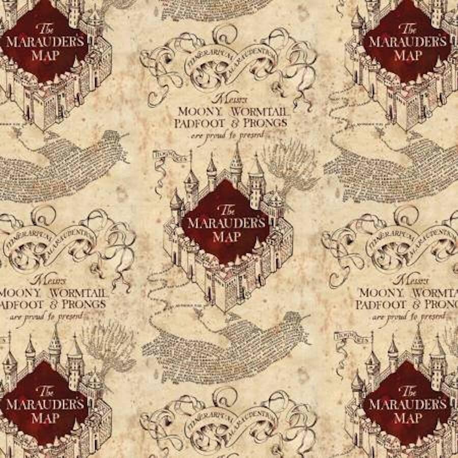 Marauders Map - Camelot- Wizarding World- Harry Potter- J K