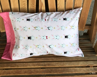 Pillowcase - Wonderland  Pillowcase / Gift -- Made With Out Of Print Fabric