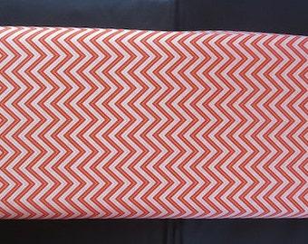 Wrens Friends Tangerine Chevron - For Moda